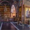 Интерьер Казанского храма монастыря Оптина пустынь (снимок сделан 25 февраля 2013 г.)