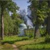 Дымок у скита (снимок сделан 28 июля 2012 г.)